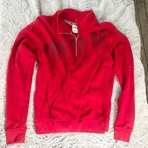 Victoria's Secret Pink Red Pull Over Jacket